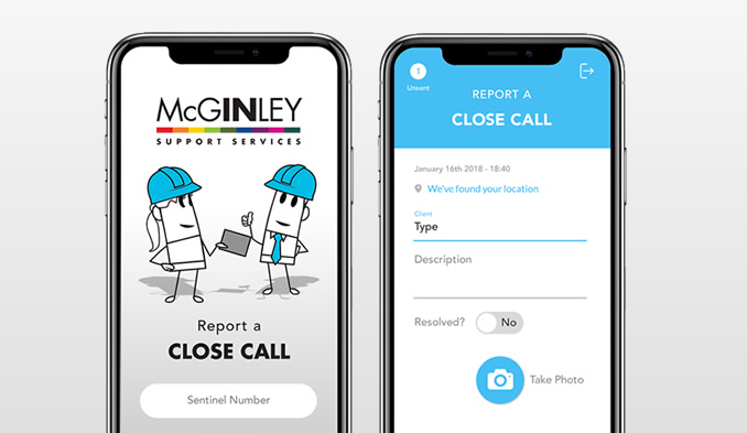 Close Call Reporting App For McGinley 25th May 2018 News Chris